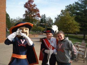 UVA Cavman with Amelia and her sister