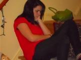 Rita lIstening to her Ipod