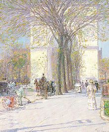 Hassam, Washington Arch in Spring