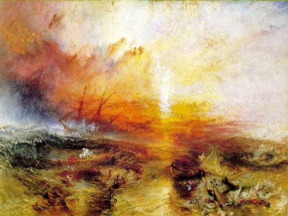 One of Turner's great paintings of sea battle.