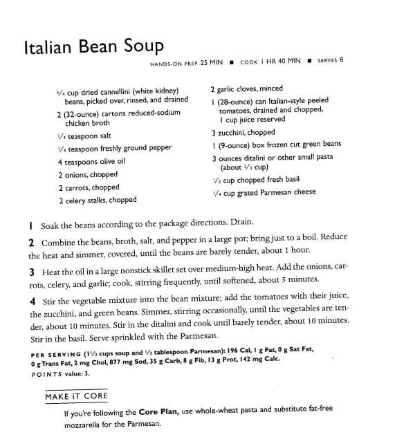 recipe Italian bean soup