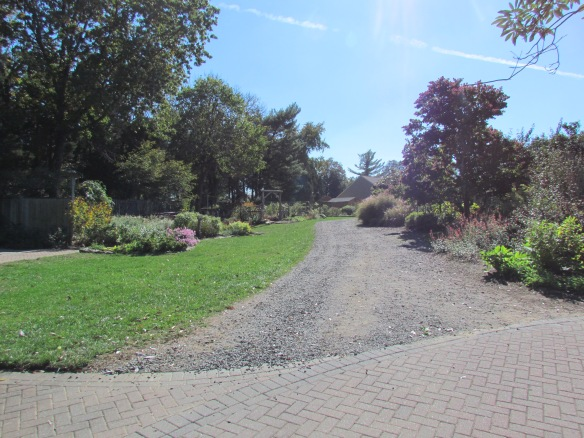 Children's garden, up this hill on the left. I couldn't take my rollator on the gravel