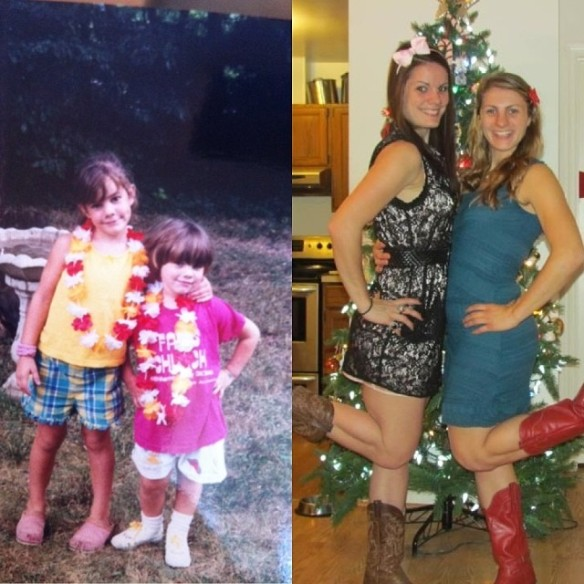 Then and now…Rita and Joy