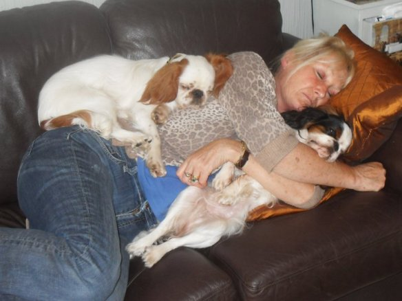 Ankie's friend with her dogs
