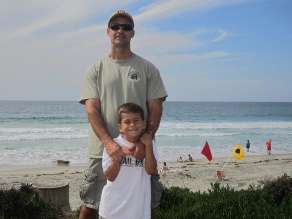 My son Richard and grandson Sean.