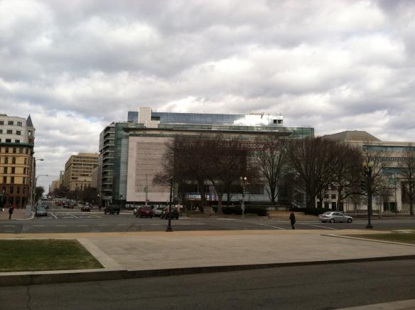 Newseum on Independence - where most broadcast news from Washington originates.