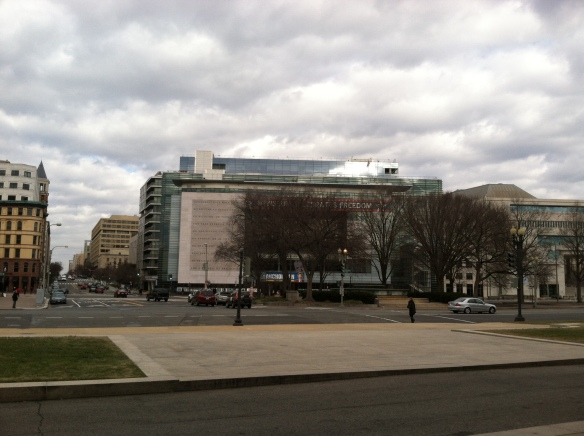 Newseum on Independence - where most broadcast news from Washington originates.