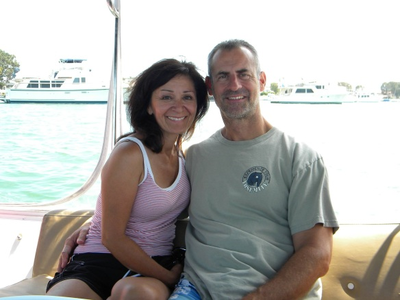 Wendy and Richard in San Diego celebrating their 50th birthdays last summer.
