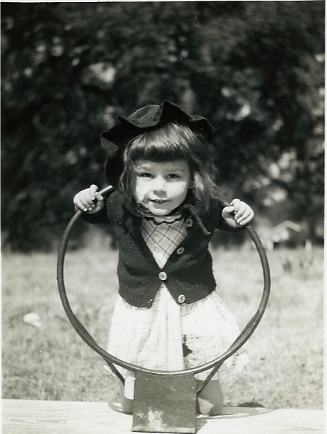 Dianne in Carolina, many years ago.  (1947)