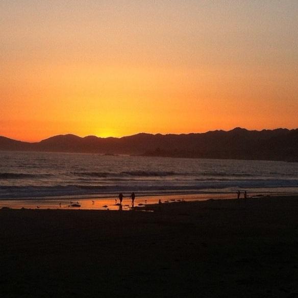 Santa Barbara CA at Sunset