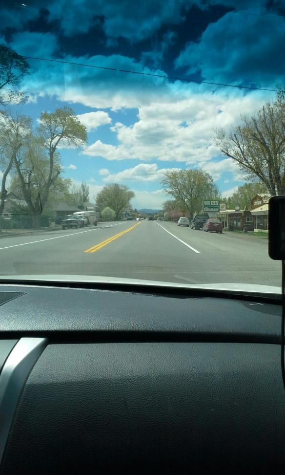 Driving through Mesa Verde Colorado