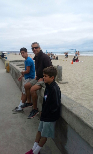 Jacob, Dad richard and Sean in San Diego.
