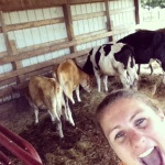 Selfie by Joy: Mucking out the Cow barn