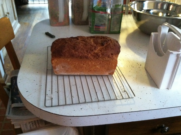 My first loaf of bread.