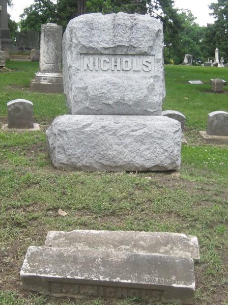 Nichols family plot in Oak Wood cemetery, Janesville WI