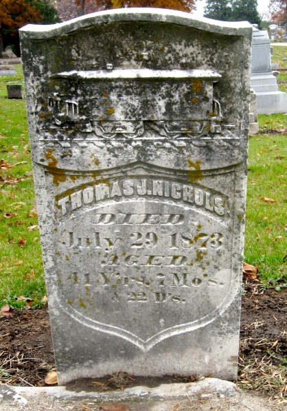 Thomas Nichols, Oakwood Cemetery, Janesville WI
