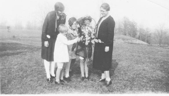 Nana, Babe, Mom, Audrey, and great-grandmother Juntje Grand Rapids MI about 1930