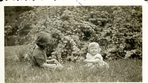 Michelle and me in Texas, 1945