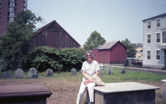 Dianne, Salem Massachusetts graveyard, 1986
