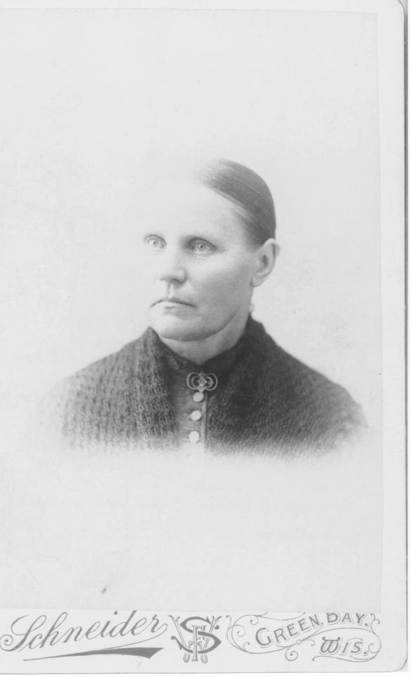 Great-great grandmother Julia, about 1880.