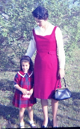 On my way to church with Connie, 1964 (pregnant with John).