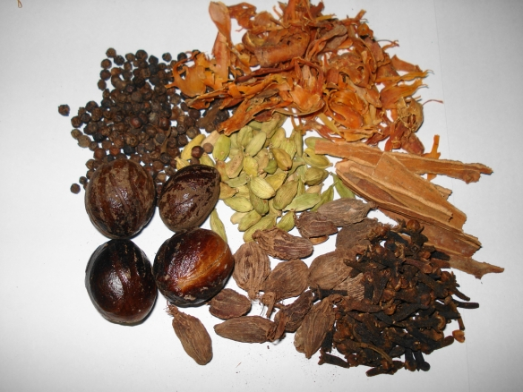 Spices used in Garam Masal