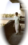 View of the Canal from our balcony, Lauderdale FL, 1988