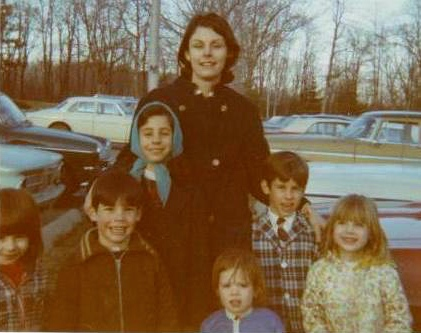 At the zoo in late the 1960s or early 1970s.  Connie in back, my boys Richard and John and friend Sherry's girls in front.