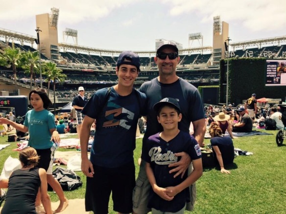 Jacob, Richard and Sean, Petco field, San Diego CA