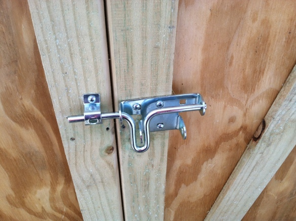 The new lock on my garden shed.