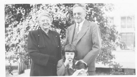 My maternal Grandparents with me, Myrtle beach, SC, 1949