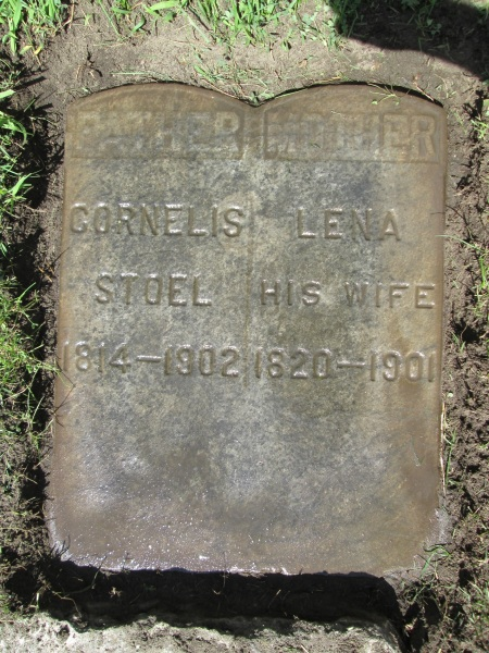 One pair of maternal great-grandparents, buried in Grand Rpids Michigan.